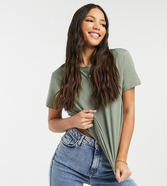 Asos Tall ASOS DESIGN Tall ultimate organic cotton t-shirt with crew neck in khaki