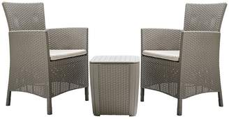 Keter Iowa 2 Seater Rattan Effect Bistro Set
