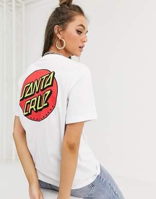 Santa Cruz Classic Dot t-shirt with back print in white