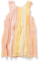Chloé Girls Crepe Pleated Dress