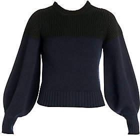 Alexander McQueen Women's Bi-Color Crewneck Pullover