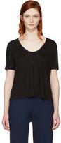 Alexander Wang Black Classic Cropped Pocket T-Shirt