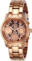 GUESS Women's 36.5mm Rose Gold-Tone Steel Bracelet & Case Quartz Multicolor Dial Analog Watch W0448L9