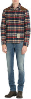 DSQUARED2 Plaid Down Jacket with Suede