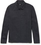 A.p.c. - Cotton And Linen-blend Zip-up Shirt Jacket