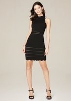 Bebe Elissa Scallop Edge Dress