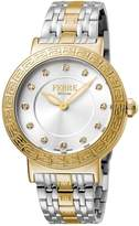 Ferré Milano Women's FM1L041M0211 Silver Dial with Two Toned Stainless-Steel Band Watch.