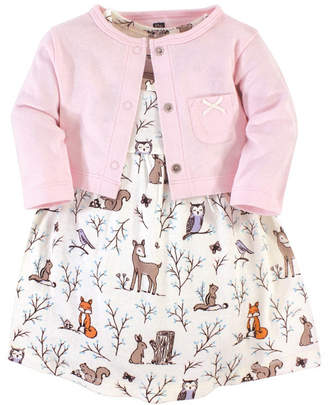 Hudson Baby Toddler Girl Dress and Cardigan
