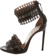 Alaia Grommet Leather Sandals