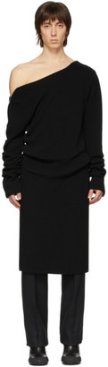 Random Identities Black Ribbed Off-The-Shoulder Sweater