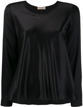 Blanca Vita Flared Satin Top