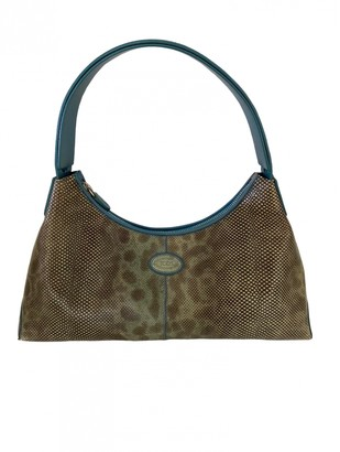 Tod's Green Exotic leathers Handbags