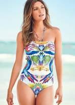 Kaleidoscope Placement Print Swimsuit