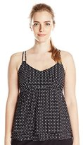 Christina Women's Sand Seduction Double Flare Tankini with D Cup Sizing