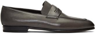Ermenegildo Zegna Grey LAsola Loafers