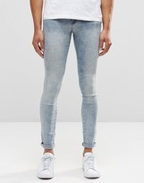 Dr. Denim Kissy Extreme Super Skinny Jeans Light Blue Crush