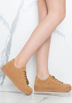 Missy Empire Alura Camel Creepers Shoes