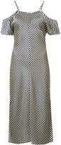 Alexander Wang cold shoulder stripe dress - women - Silk - 4