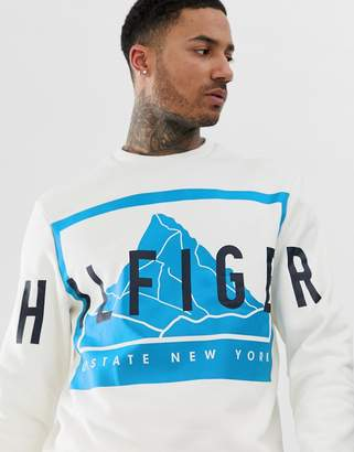 Tommy Hilfiger relaxed mountain sweatshirt-White