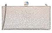 Jimmy Choo Women's Celeste Sprinkled Crystal Box Clutch