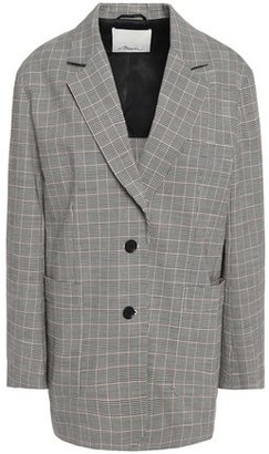 3.1 Phillip Lim Prince Of Wales Checked Stretch-wool And Cotton-blend Blazer
