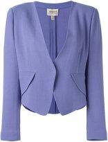 Armani Collezioni v-neck blazer - women - Polyester/Spandex/Elastane/Wool - 48