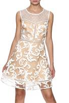 Ark & Co Nude White Embroidered Dress