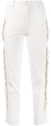 Eckhaus Latta fringed sides straight jeans