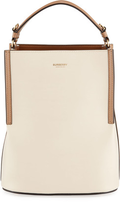 Burberry Two-Tone Leather Bucket Bag