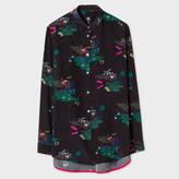 Paul Smith Women's Black 'Island' Print Silk Shirt