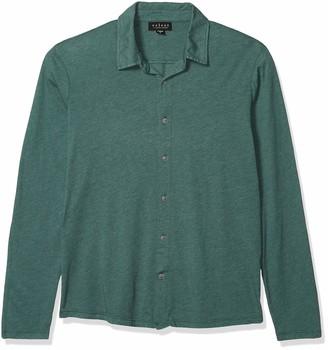 Velvet by Graham & Spencer Men's Marsh Long Sleeve Knit Button Down Shirt