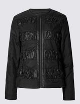 Marks and Spencer Padded & Quilted Ruche Coat with StormwearTM