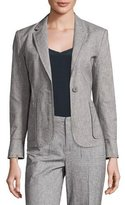 ATM Anthony Thomas Melillo Tweed Schoolboy Blazer, Gray