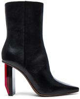 Vetements Reflector Leather Ankle Boots