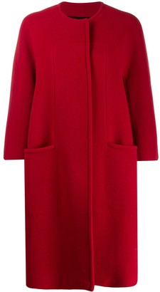 Gianluca Capannolo collarless cocoon coat