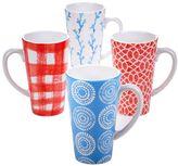 Certified International Beach House 4-pc. Latte Mug Set