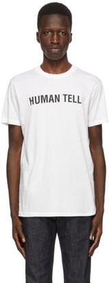 Helmut Lang SSENSE Exclusive White Human Tell T-Shirt
