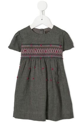 Velveteen Imogen stitch detail dress