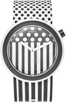 Swatch Unisex Swiss Pop Black and White Silicone Strap Watch 41mm PNW101