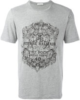 Pierre Balmain logo print T-shirt - men - Cotton/Polyester - 44
