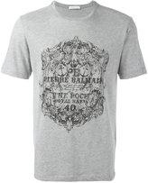 Pierre Balmain logo print T-shirt - men - Cotton/Polyester - 48