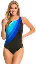 Longitude Colorblock Highneck One Piece Swimsuit 8138687