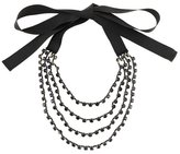 Ann Demeulemeester triple beaded necklace