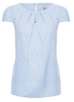 Dorothy Perkins Womens Billie & Blossom Blue Heart Ditsy Print Shell Top, Blue