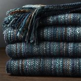 Crate & Barrel Shelby Blue Throw