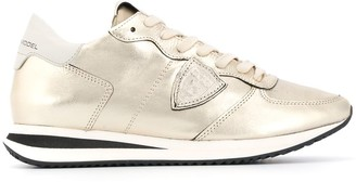 Philippe Model Paris Tropez metallic sneakers