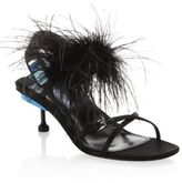 Prada Feather Slingback Sandals