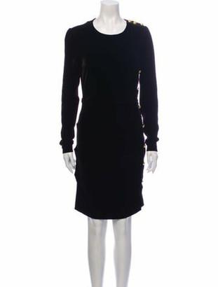 Veronica Beard Crew Neck Knee-Length Dress Black