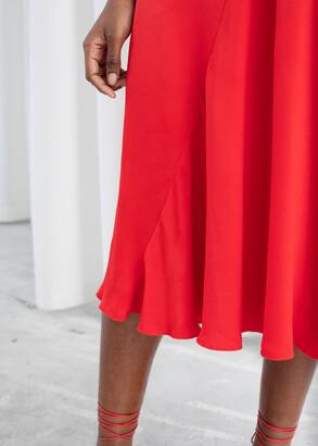 And other stories Sleeveless Bias Cut Midi Dress