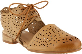 Spring Step Leather Lace Up Shoes - Neroh